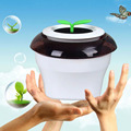 Portable USB Car Air Purifier Fresh Oxygen Ionizer Coffee LED Light Glow Hot Selling