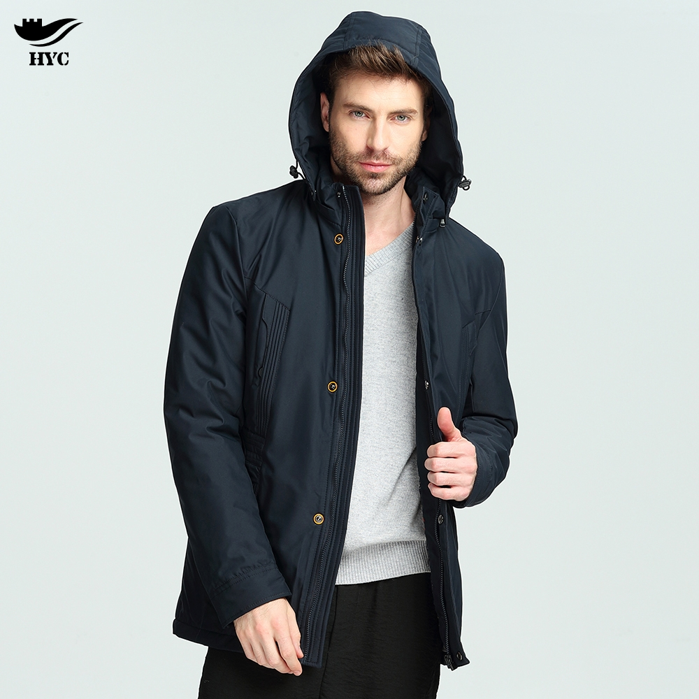 HAI YU CHENG Jackets Men Long Thin Parka Coat Male Waterproof Mens Windbreaker Jacket Ho ...