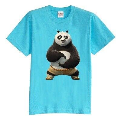Детская футболка лето с коротким рукавом кунг-фу панда Футболки 100% хлопок мальчик девочка малыш футболка