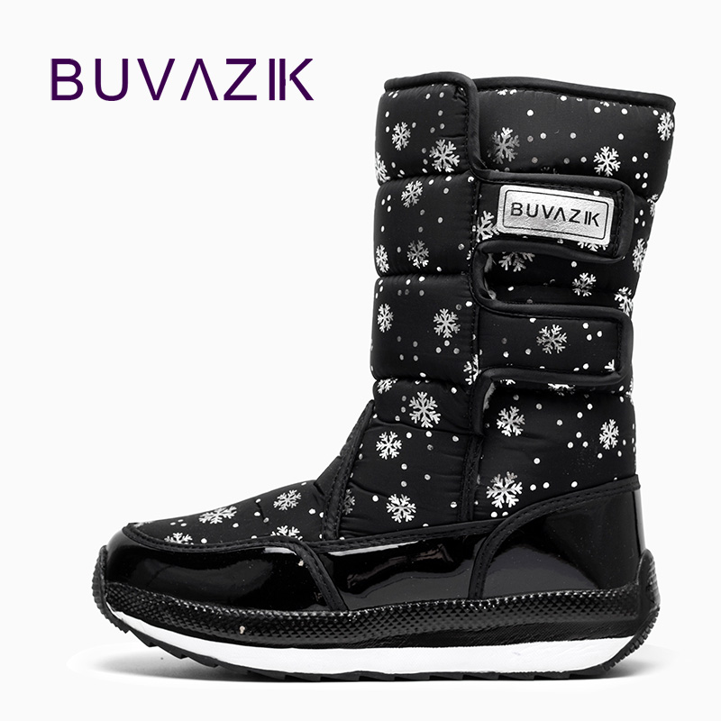 2017 fashion keep warm Down waterproof women boots Snowflake printing Hook & Loop design winter snow boot cotton fabric shoes fashion keep warm winter women boots snow boots 2017 buckle cotton boots women boots shoes