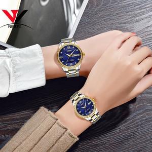 Image 5 - Montres NIBOSI pour amoureux unisexe montre de luxe pour hommes et montres pour femmes montre bracelet à Quartz étanche montre bracelet pour femme en cristal