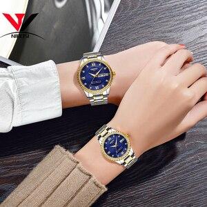 Image 5 - Nibosi unisex amante relógios marca superior de luxo relógio masculino e relógios feminino à prova dwaterproof água relógio de quartzo senhora cristal