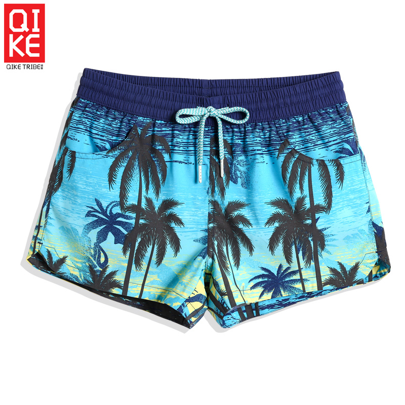 Summer New Swimming trunks Women's Swimsuit joggers quick dry surfing liner sport de bain homme printed sexy   board     shorts   mesh