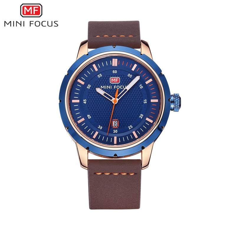 ФОТО MINI FOCUSTop Brand Luxury Men's Sports Watches Men Waterproof Quartz Watch Man Leather Military Wrist watch Relogio Masculino