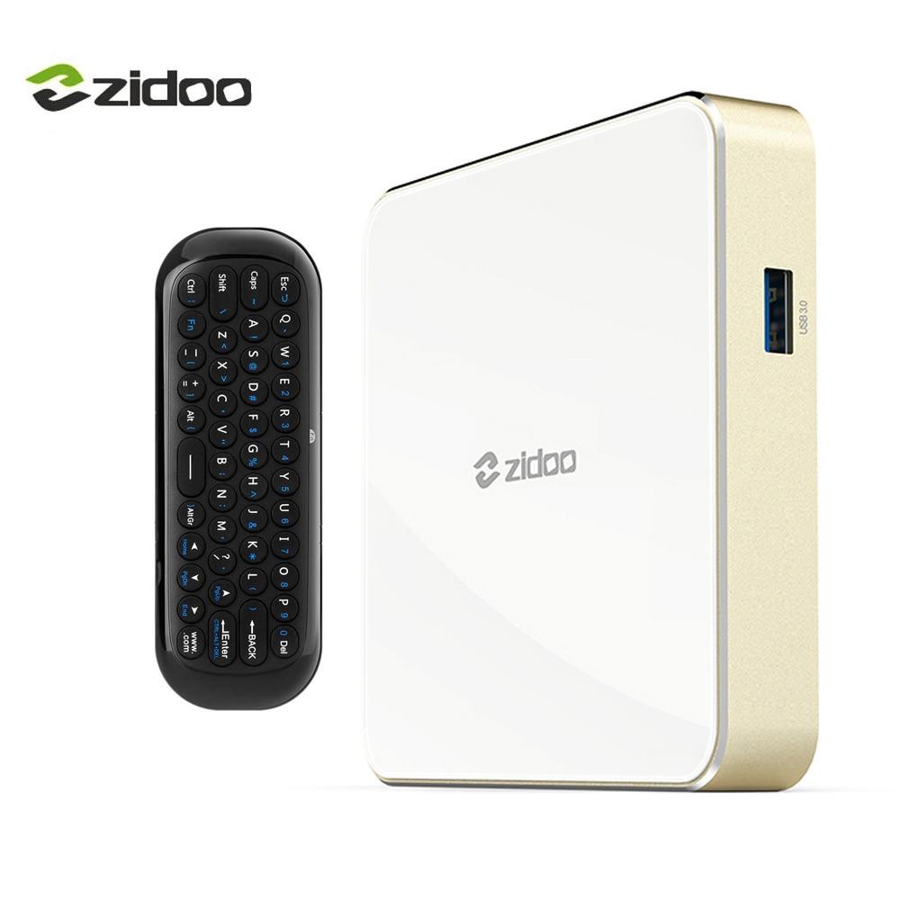 ZIDOO H6 Pro Quad-core Set top Box Android 7.0 4K TV Box Bluetooth 4.1 in DDR4 4K@60fps 10Bit 2BG+16GB eMMC 1000M LAN Dual WIF allwinner h6 android 7 0 zidoo h6 pro tv box ddr4 2gb emmc 16gb ac 4k 10bit hdr wifi 1000m lan dolby digital dts hd smartcolo