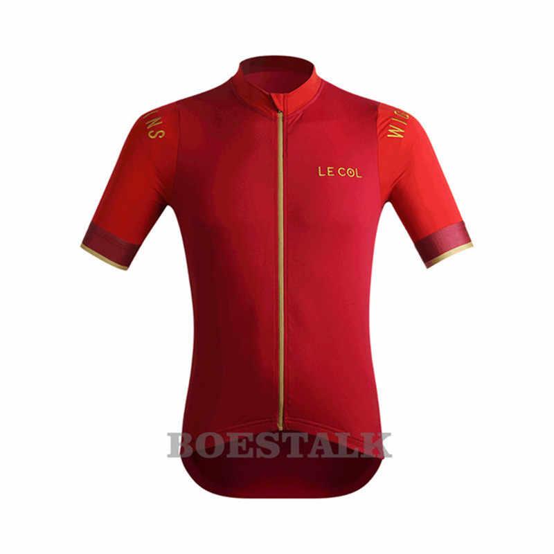 2019 zomer mannen fiets shirt le col korte mouwen wielertrui maillot ciclismo hombre comfortabele sneldrogend sport panty bic