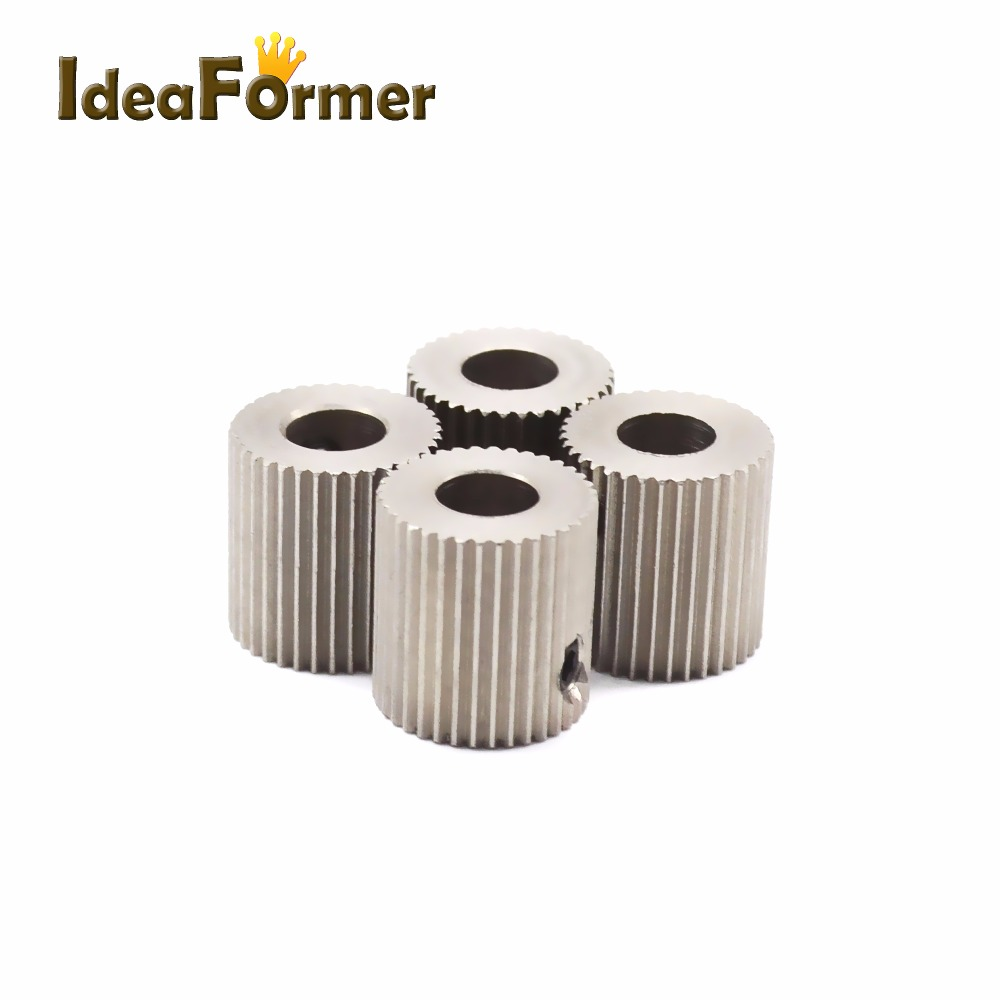 Extruder Feeder Driver Pulley Gear 38 Teeth For Makerbot MK7 MK8 Gear 3D Printer Parts Wheel Bore 5mm Stainless Steel Part