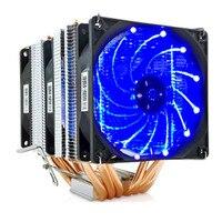 High quality 6 heatpipe dual tower cooling 9cm fan support 3 fans 4PIN CPU cooler 775 115X 1366 2011 AM3 AM4 FM1 FM2 Ryzen
