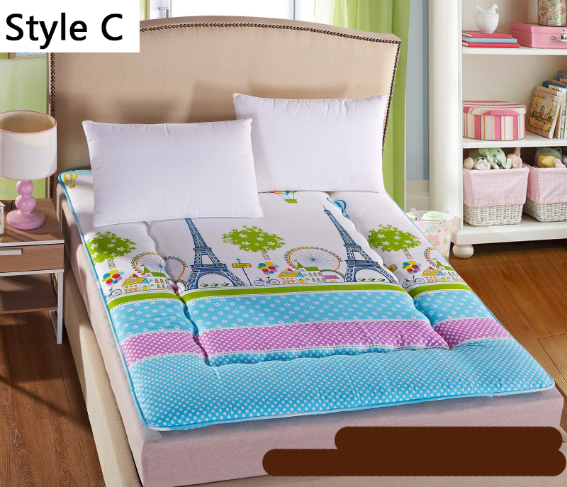все цены на Ancient Architecture Thick Warm Foldable Single Or Double Mattress Fashion NEW Topper Quilted Bed