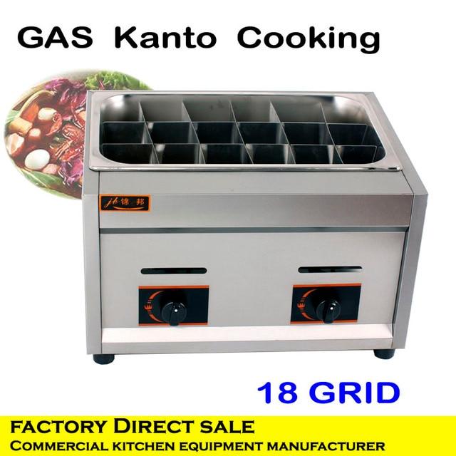 Professional commercial kitchen equipment gas hot pot cooker/noodle ...