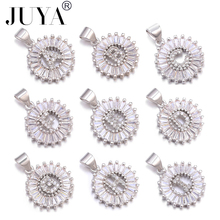 JUYA Silver Color Initial fashion CZ Necklace Personalized Letter necklace pendant for women Accessories Girlfriend Gift
