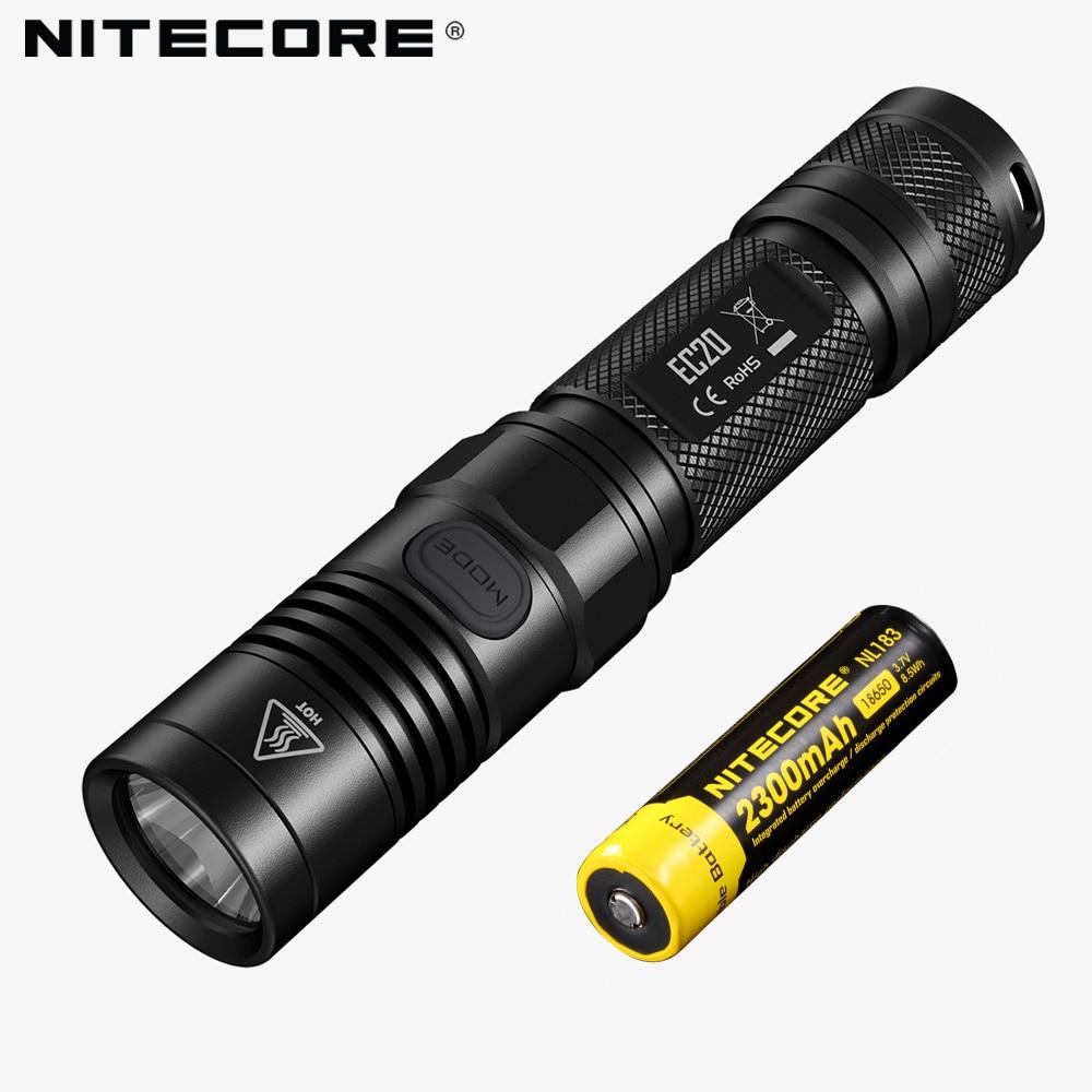Cinq ans de Garantie NITECORE EC20 960 Lumens Lumineux LED Sous-Marine lampe de Poche Portable Lumière avec 18650 Batterie