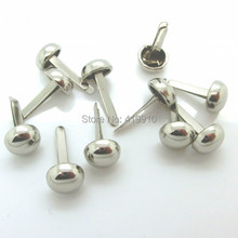 Free shipping -200PCs Silver Tone Rivets Spike Studs Spots C