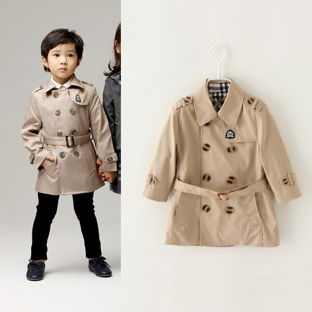 b7435ec4ab6d 3A 10A Europe brand children boys trench coat fashion kids outerwear ...