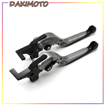 for KAWASAKI Z900 2017 with logo Motorcycle Frame Ornamental Foldable Brake Handle Extendable Clutch Lever motorcycle brake handle cnc aliuminum motorcycle adjustable clutch brake lever handle for kawasaki z900rs 2018 z900rs z900 rs
