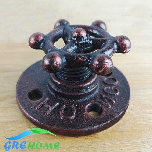 купить Black door handles antique Industrial style barn sliding wood door handles and knobs vintage handmade по цене 475.98 рублей