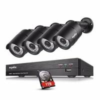 SANNCE 4CH 1080P HD CCTV System 4pcs 1080P 2 0MP Security Cameras IR Night Outdoor Weatherproof