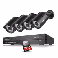 SANNCE 4CH 1080P HD CCTV System 4pcs 1080P 2 0MP Security Cameras IR Night Outdoor Weatherproof