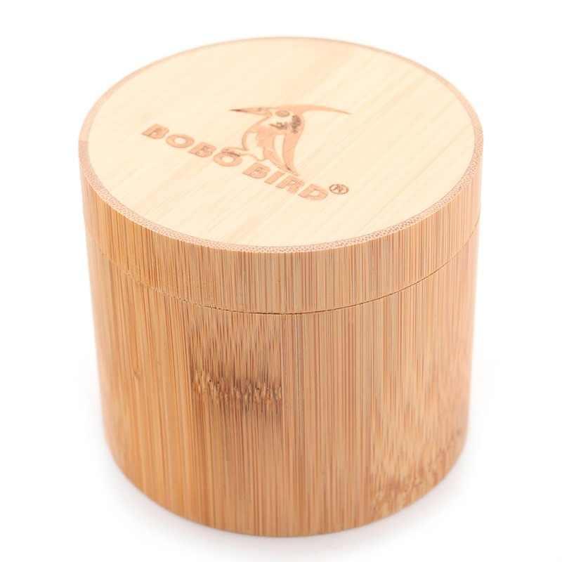BOBO pájaro bambú madera relojes caja redondo tubo de Bambú