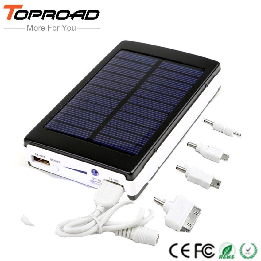 bilder für Tragbare Solar Power Bank 10000 MAH Externe Bewegliche Ladegerät bateria externa Powerbank carregador portatil para celular