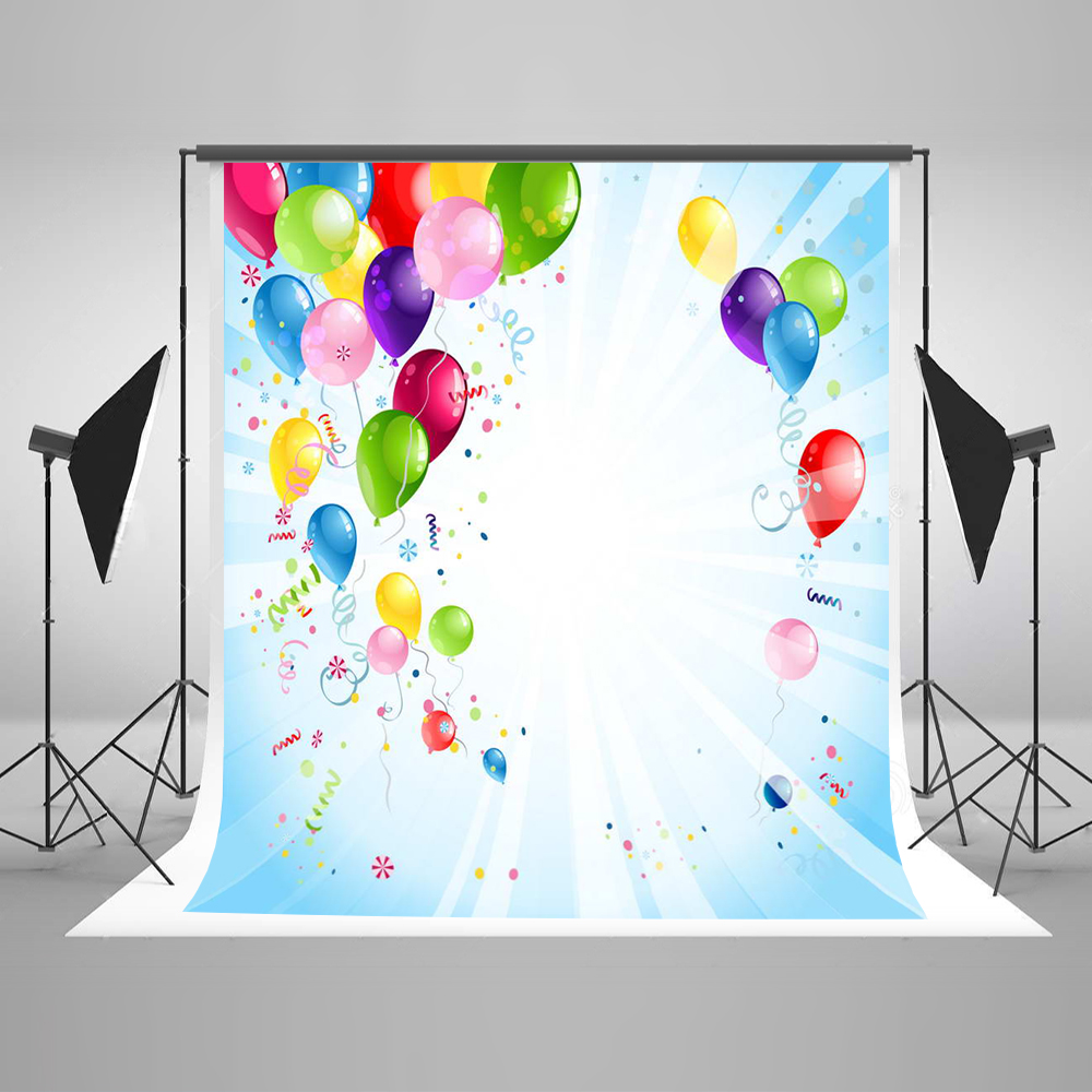 Color booth online - Children Photography Background Get Together Photo Booth Backdrops Color Balloon Baby Background For Photographic Studio