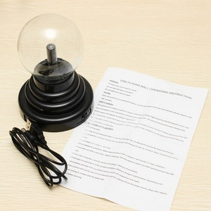 Image 5 - Hot Selling 8*8*13cm USB Magic Black Base Glass Plasma Ball Sphere Lightning Party Lamp Light With USB Cable
