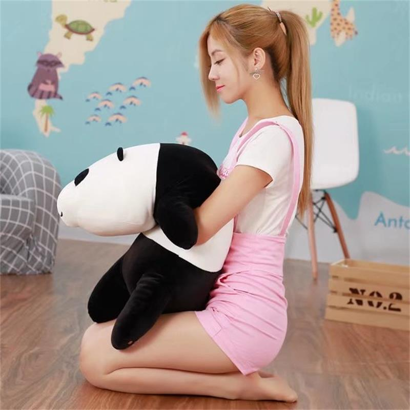 middle lovely plush panda toy soft lying panda pillow doll gift about 70cmmiddle lovely plush panda toy soft lying panda pillow doll gift about 70cm