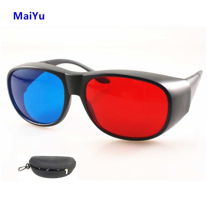 Professional Headset Red Blue 3D Glasses VR Movie Lens Virtual Reality Lens for Home Cineam Games with Box