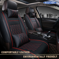 SCOTABC Seat Cordoba Seat Cover Seat Cove for bmw e46 e90 PU Leather Seat Cover bmw Cubre Asientos Auto Storage Tidying