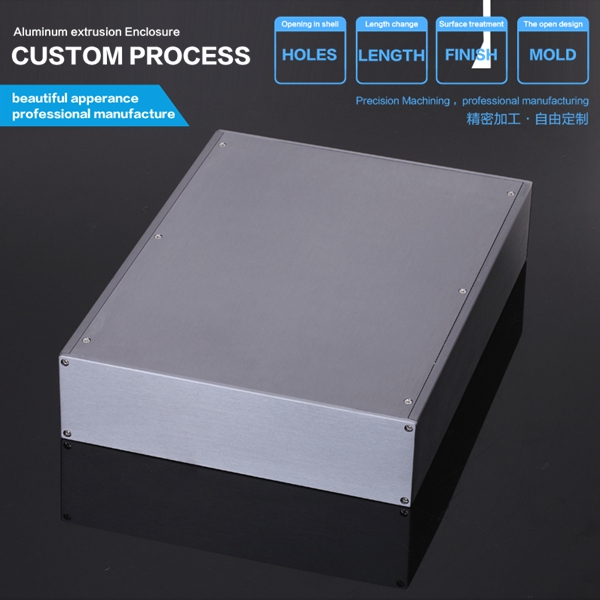 YGS-029-256*70.2*340mm Power case instrument chassis shell Aluminum Enclosure box splitted DIY NEW 3206 amplifier aluminum rounded chassis preamplifier dac amp case decoder tube amp enclosure box 320 76 250mm