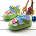 Baby Girls Moccasins Cute Crib Shoes Green Buckle Strap Bowknot Soft Bottom skid-resistant High Quality Infant Girl Shoes