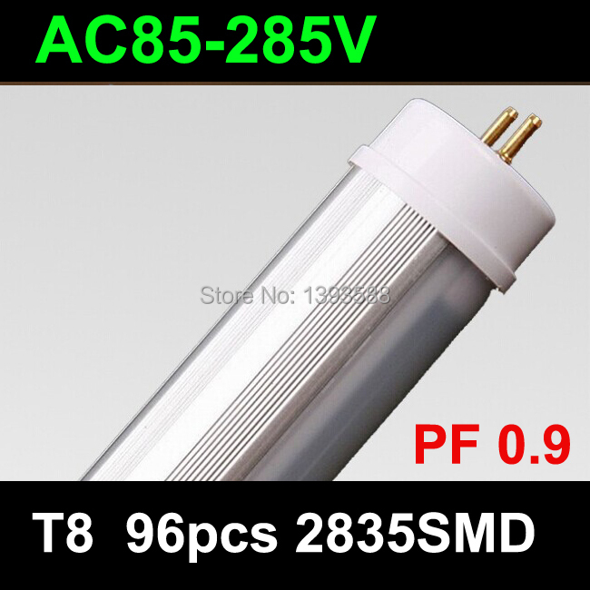 AC85V-265V PF0.9 t8 <font><b>led</b></font> tube <font><b>1200mm</b></font> 15w 96pcs 2835SMD lights Cold White/Warm White Living Room Bedroom 30pcs/lot image