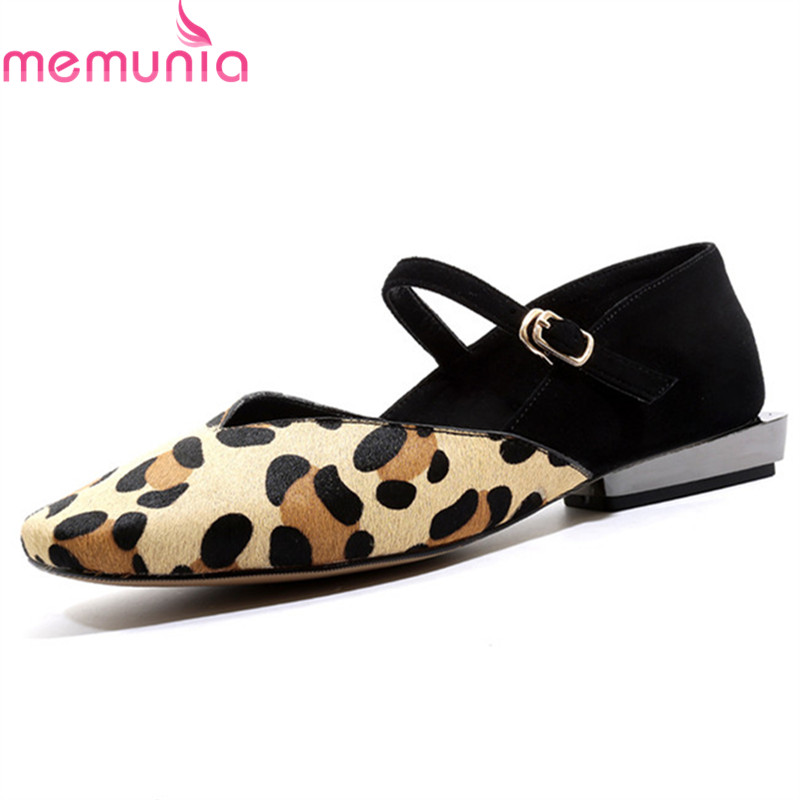 MEMUNIA 2019 new arrival mary jane flat shoes women mixed colors genuine leather shoes summer single