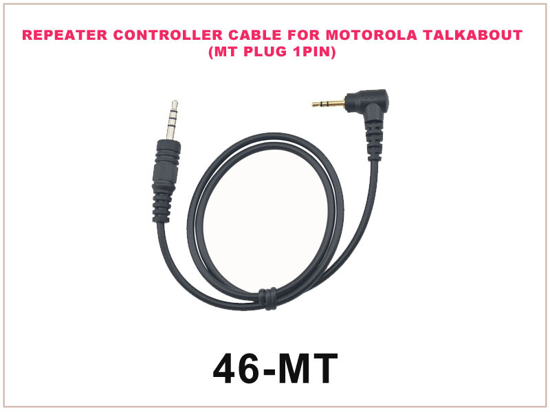 46-MT Repeater Controller Cable FOR Motorola Talkabout (MT Plug 1pin)