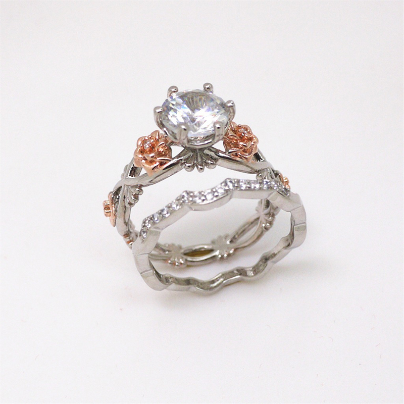 Flower Moissanite Promise Rings 4