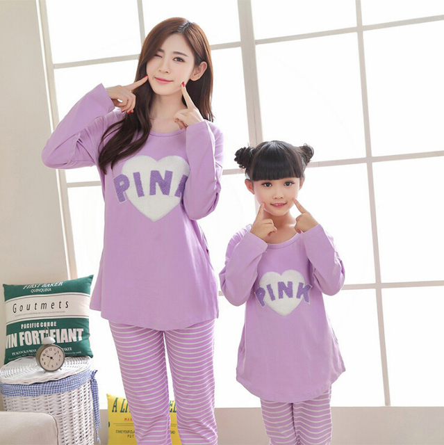 Family Pajamas Set  Leisure Wear Clothing Parent-Child Set Mother and Daughter Clothes Mom Daughter Clothing Sets FF32
