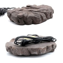 Rock Pattern Cave Hide-out Hide-away With Heater Heat Cave For Tortoise Gecko Lizard Snake Reptile Vivarium Terrarium Decoration