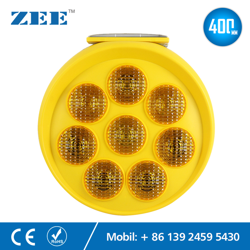 Dia. 400mm Sunflower Solar Powered Traffic Warning Light