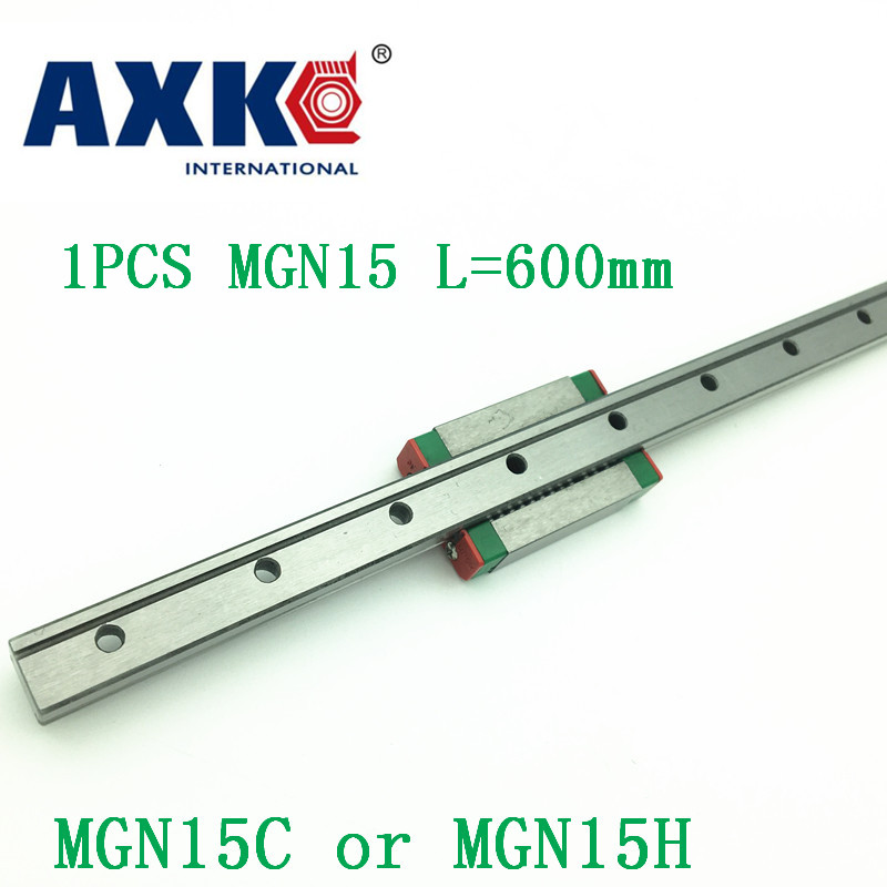 15mm Linear Guide Mgn15 L=600mm Linear Rail Way + Mgn15c Or Mgn15h Long Linear Carriage For Cnc X Y Z Axis 15mm linear guide mgn15 l 650mm linear rail way mgn15c or mgn15h long linear carriage for cnc x y z axis