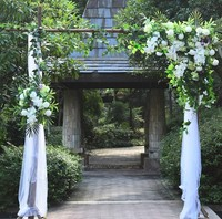 Белый с трава зеленая розы искусственный цветок фон цветок свадебное оформление сцены