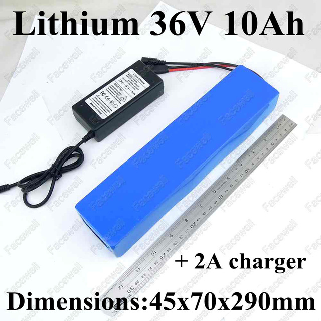 Brand 36v 10ah 36v10ah 36v 500w lithium ion cell battery