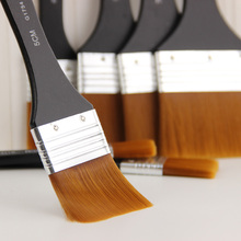 7 Styles Watercolor Oil Art Paint Brush Nylon Hair Painting Easy To Clean Wooden Cleaning 1pcs