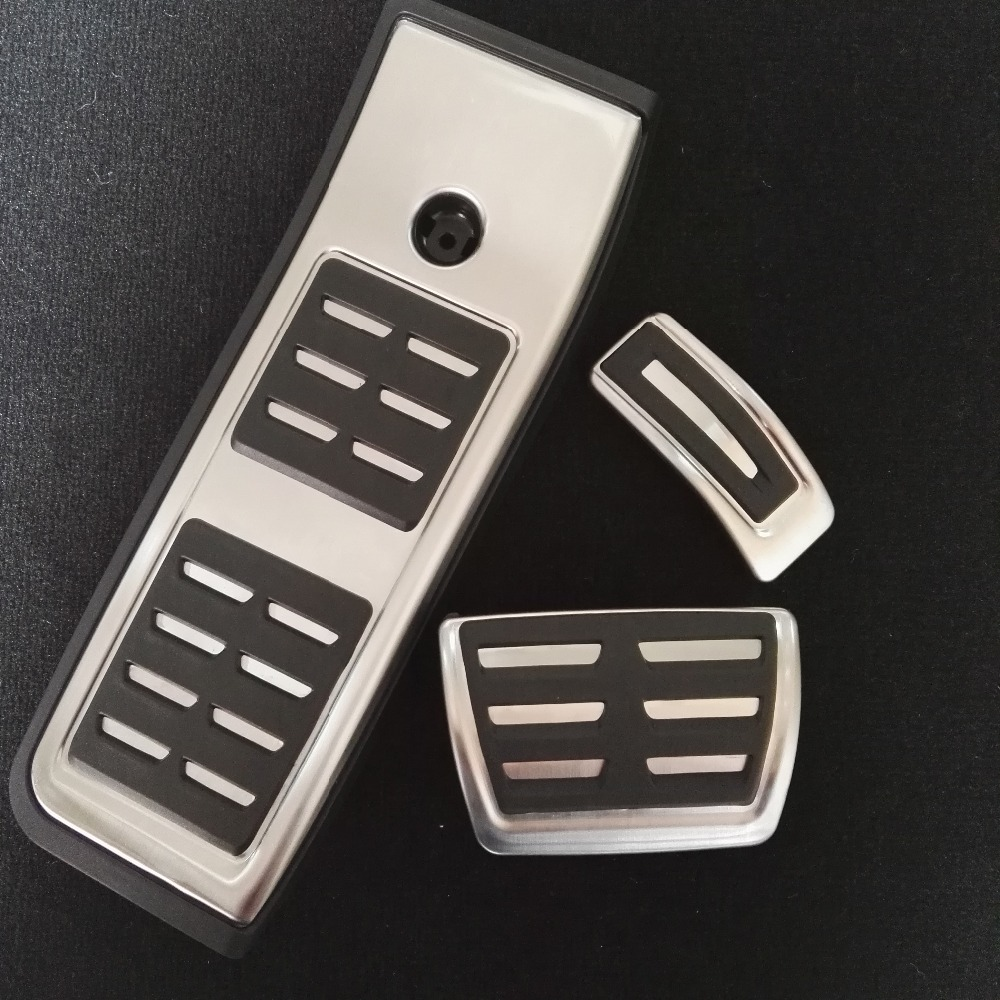 New sport automatic high quality stainless steel gas brake foot pedal cap kit for audi