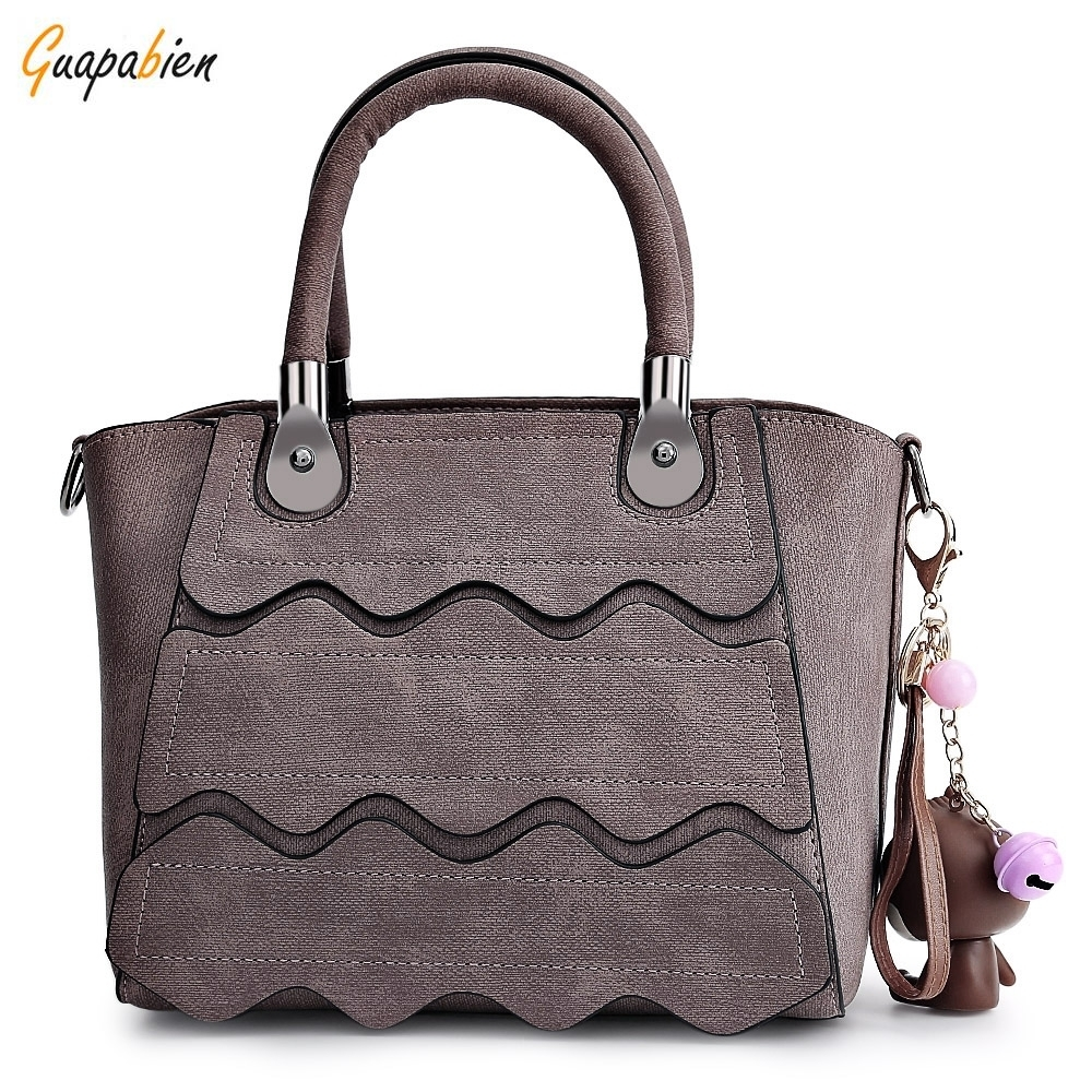 2017 New Modern Women Tote Bag Fashion Curved Leather Handbag Women Shoulder Bag