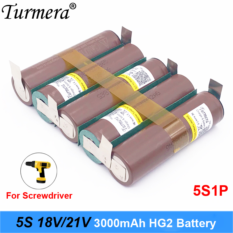 5s 18v 21v battery 18650 pack 18650 HG2 3000mah 30a soldering battery for screwdriver battery and vacuum cleaner customized image