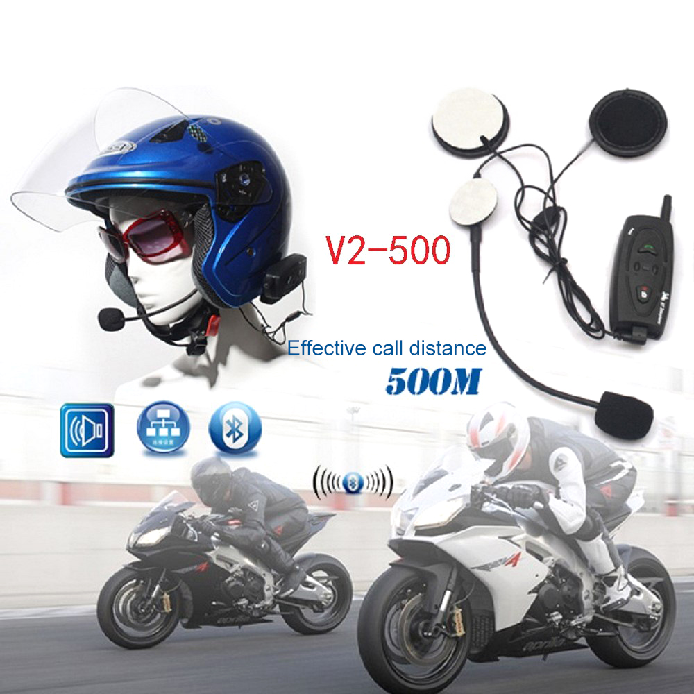 Waterproof Motorcycle Helmet Wireless Bluetooth Walkie-talkie V2-500 Smart Full Duplex Bluetooth Real-time Stereo Walkie-talkie