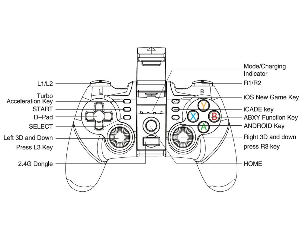 100% Original PG9076 Gaming Gamepad Bluetooth Wireless