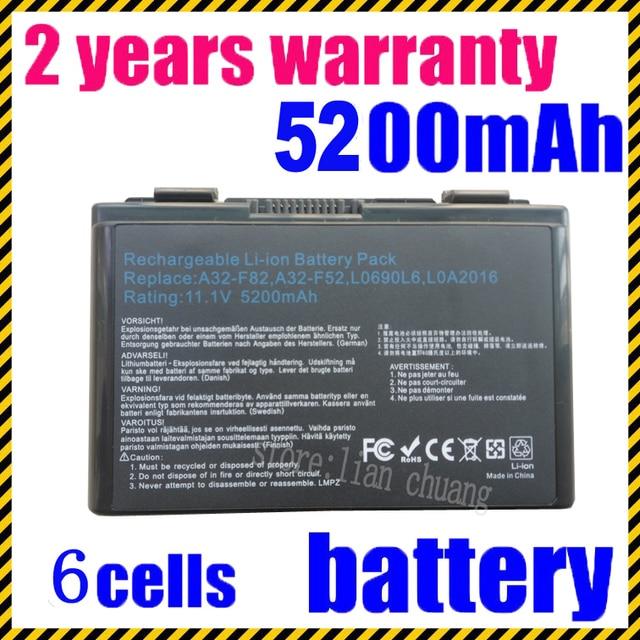 JIGU k50in Ноутбука Батарея Для Asus K50AB K70 A32-F52 F82 K50I K60IJ K61IC бесплатная доставка А32-F52 L0690L6 L0A2016 k50ij