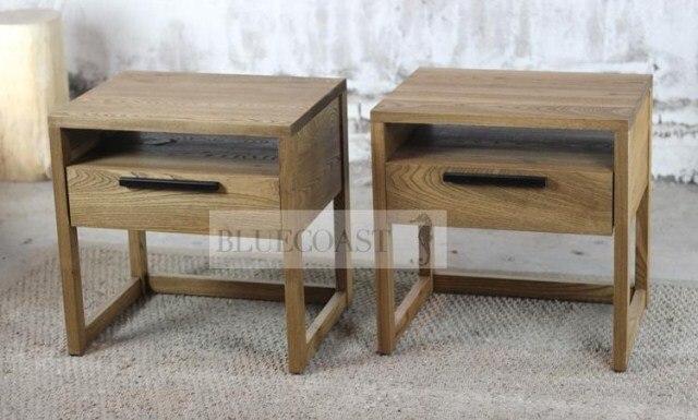meubles de campagne franaise co rustique amricain rtro style scandinave table de chevet en bois - Table De Nuit Rustique