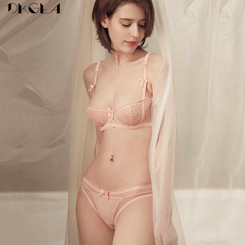 828db08d98f9e ... Ultrathin Underwear Set Plus Size 34 36 38 E Cup Sexy Bras Lingerie  Lace Women Transparent ...